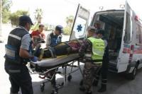 إصابة شخصان لحادث تدهور في مادبا