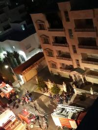 إصابة 3 أشخاص اثر حريق منزل بعمان