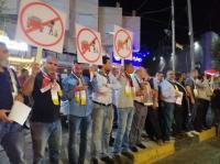 وقفة احتجاجية ضد الأوتوبارك في إربد