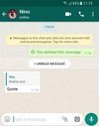 حذف الرسائل على واتسآب ..  قد يورّطك!