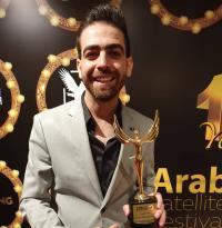 إياد النقيب يكرم في مهرجان الفضائيات العربية في مصر - صور