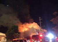 إجلاء 100 شخص إثر حريق