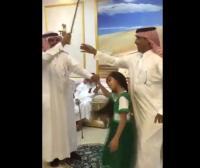 طفلة تتعرّض لضربة سيف في احتفالات السعودية باليوم الوطني