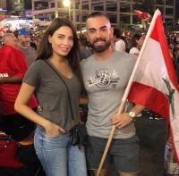 سيرين عبد النور تشارك في الإعتصامات