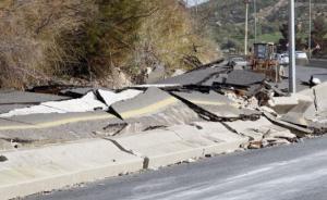 إغلاق جزئي لتحويلة طريق عمان- إربد عقب انهيار جديد