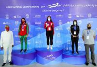 7 ميداليات للأردن بأول أيام البطولة العربية للسباحة