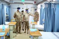 572 سريرا بالمستشفى العسكري المخصص لحالات كورونا
