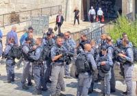 الاحتلال يعتدي على المقدسيين في باب العامود