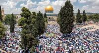 45 ألف مصلٍ يؤدون الجمعة بالمسجد الأقصى